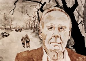 watercolor portrait Cormac McCarthy